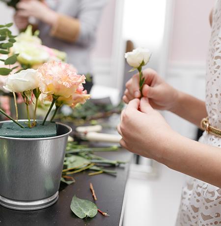 Atelier d'art floral pour enfants à Seclin